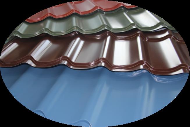 Различные цвета металлочерепицы Puretan