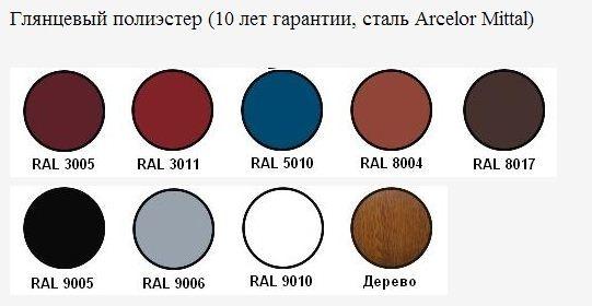 глянцевые цвета